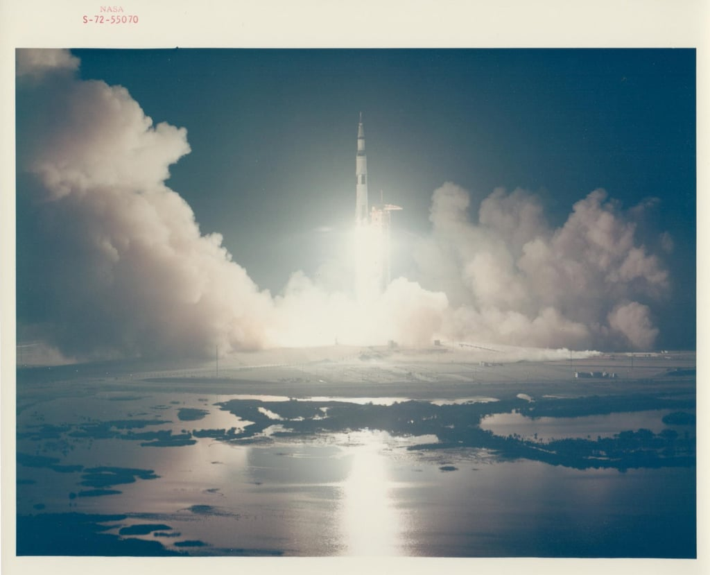 Liftoff of the Last Lunar Mission