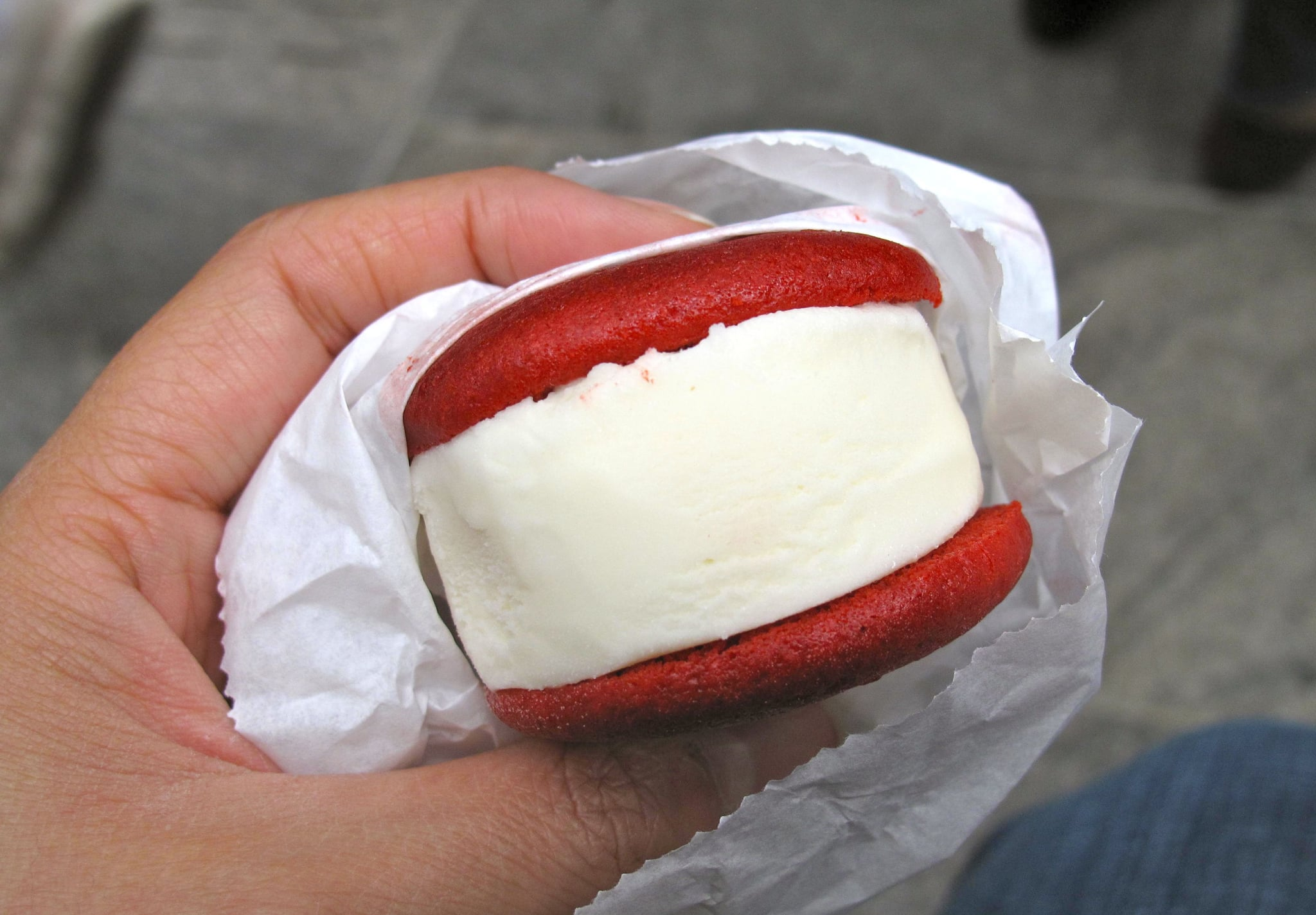 Red Velvet Whoopie Pie Ice Cream Sandwich