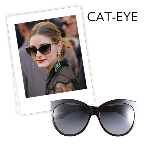 Why we love them: The cat-eye may just be the chicest of frames. With a retro vibe that's just a little more glamorous than your average shades, we can't resist the vampy vibe they give to our look a la Olivia Palermo in Dior shades. How to wear them: This silhouette is huge for Spring and go with just about anything. Don't fear the drama of the frame, they pair just as well with your dressed-down beach wear as they do with pretty day dresses. The trick is finding the right angle for your face. Go for a more angular style if you have a rounded face; if you have a more rectangular face, opt for a pair with rounded edges to complement.  Dior Rounded Cat's Eye Sunglasses ($275)