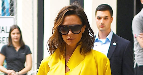 Victoria Beckham Continues Colorful Clothing Streak in Bright Yellow Outfit