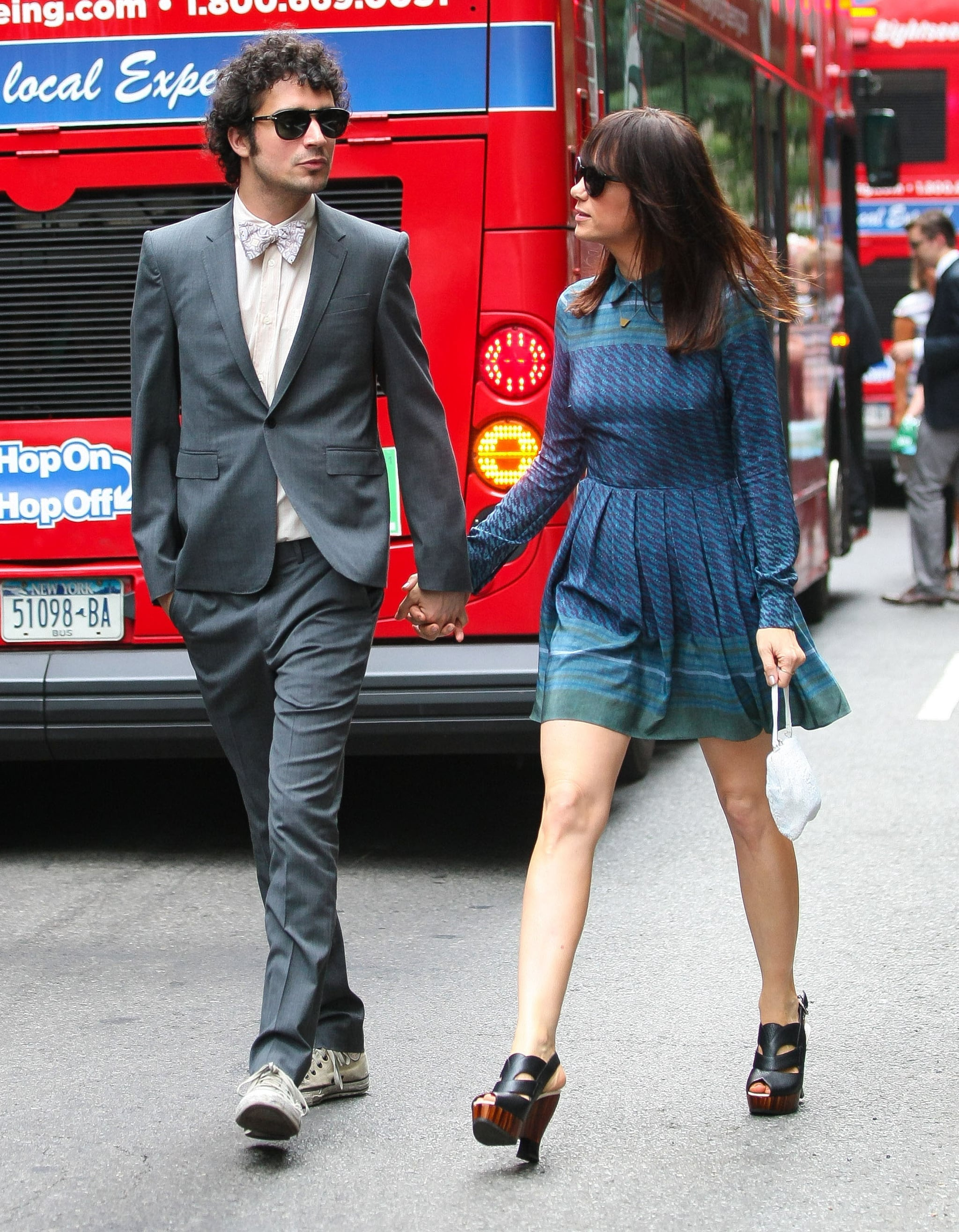 Kristen Wiig and Fabrizio Moretti attended Ellie Kemper and Michael Koman's NYC wedding in July 2012.