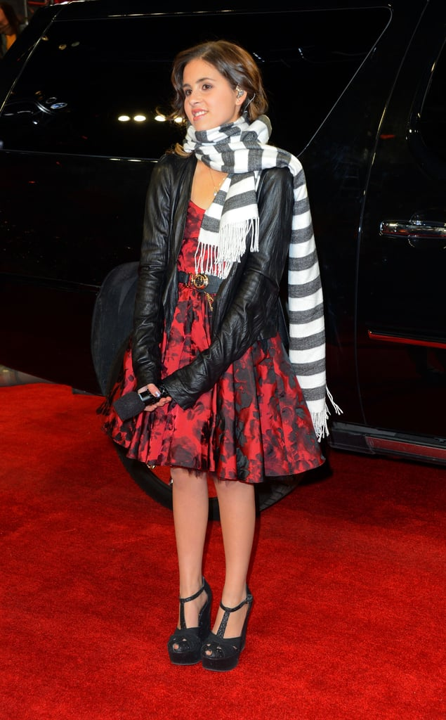 Carly Rose Sonenclar bundled up with a scarf.