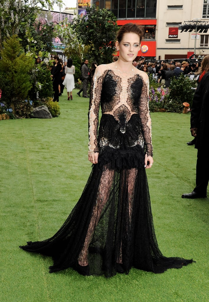 Kristen Stewart Rocks Lacy Marchesa Gown For SWATH London Premiere