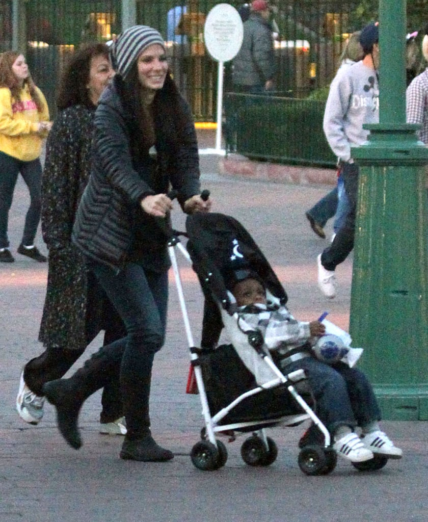 Sandra Does Disneyland With Little Louis and Pal Melissa McCarthy