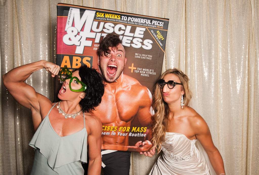 Guests were able to experience their own fitness magazine cover shoot at the wild photo booth.