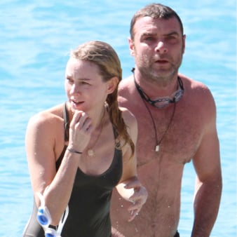 Liev Schreiber and Naomi Watts Family Beach Pictures
