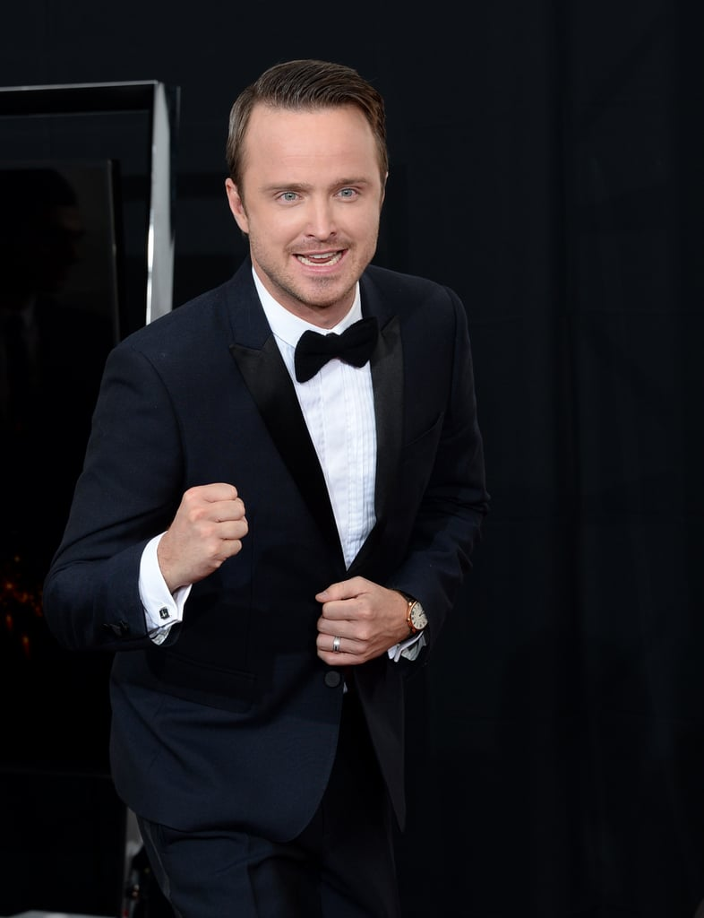 Aaron Paul was pumped about Breaking Bad's big win.