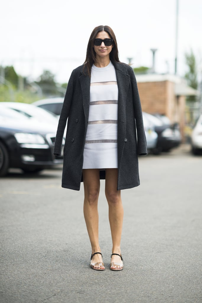 You can wear your little white dresses, as long as you layer up appropriately with lightweight outerwear. Source: Le 21ème   Adam Katz Sinding