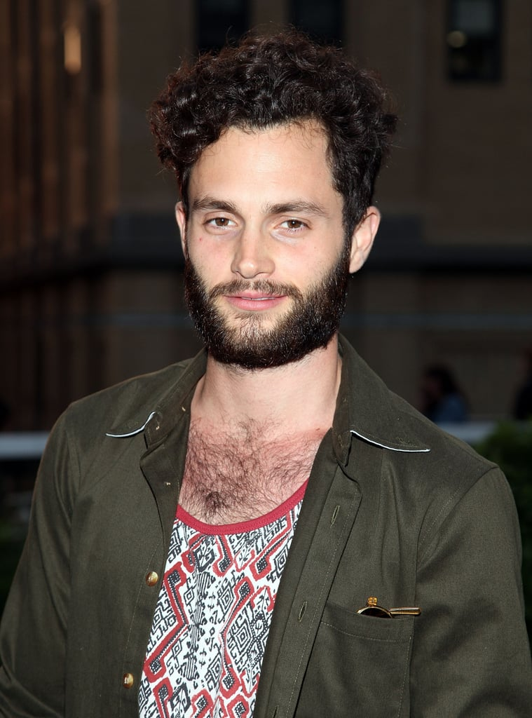 Penn Badgley smiled at Coach's Summer Party on the High Line in NYC.