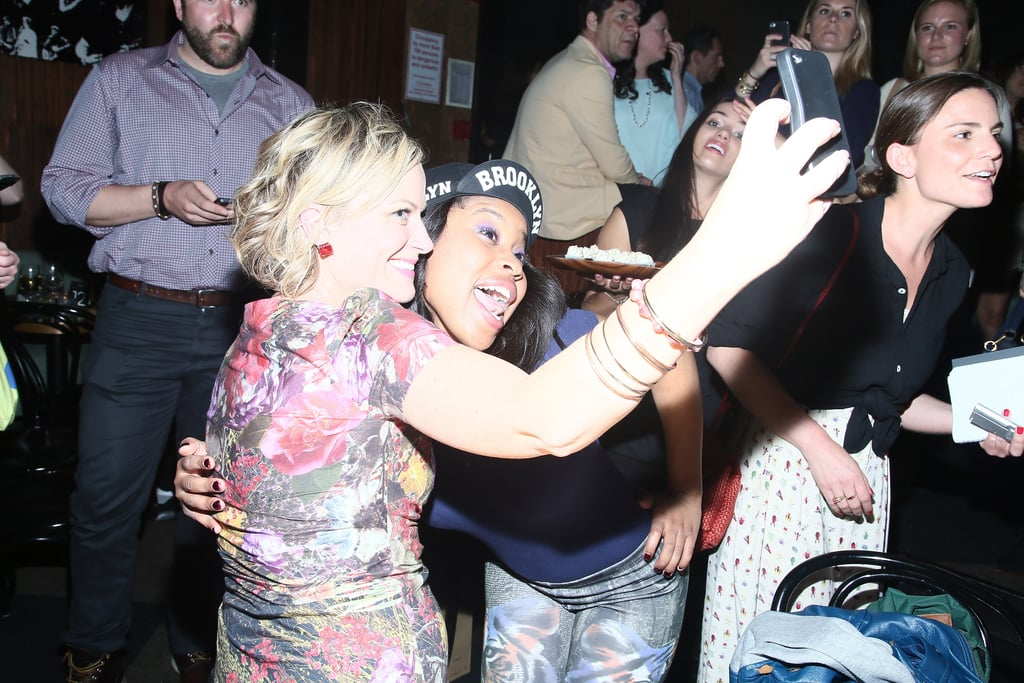 Amy Poehler and Dominique Fishback got snap happy in May 2013 during a performance of These Girls in NYC.