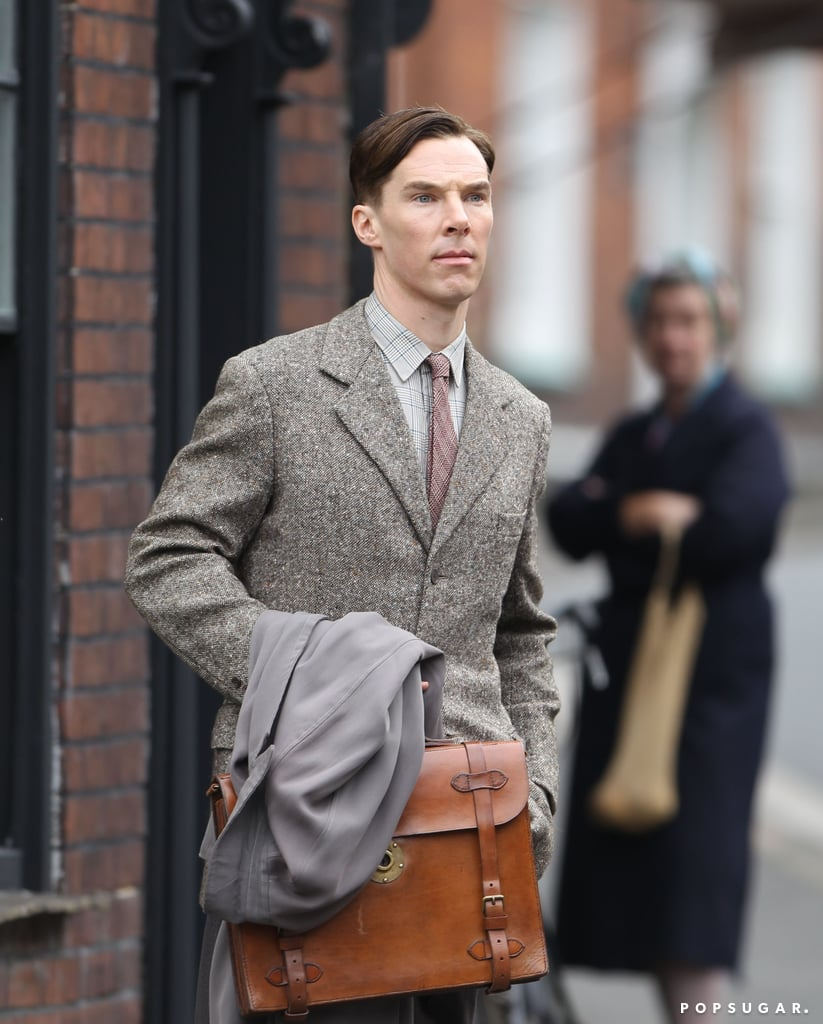 Benedict Cumberbatch was on the set of The Imitation Game.