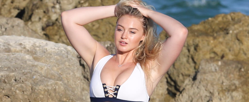 Model Iskra Lawrence Flaunts Her Curves During a Beach Day in Miami