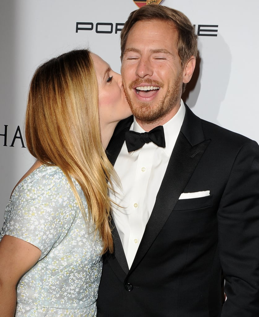 Drew Barrymore planted a kiss on Will Kopelman.