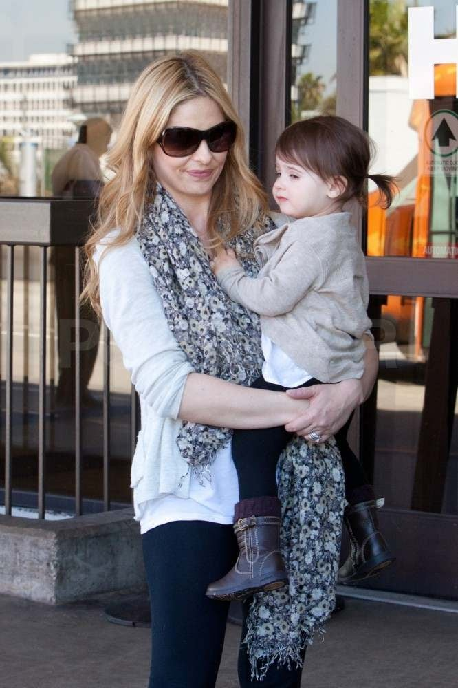 Sarah Michelle Gellar Returns to LA With Her Little Lady Charlotte