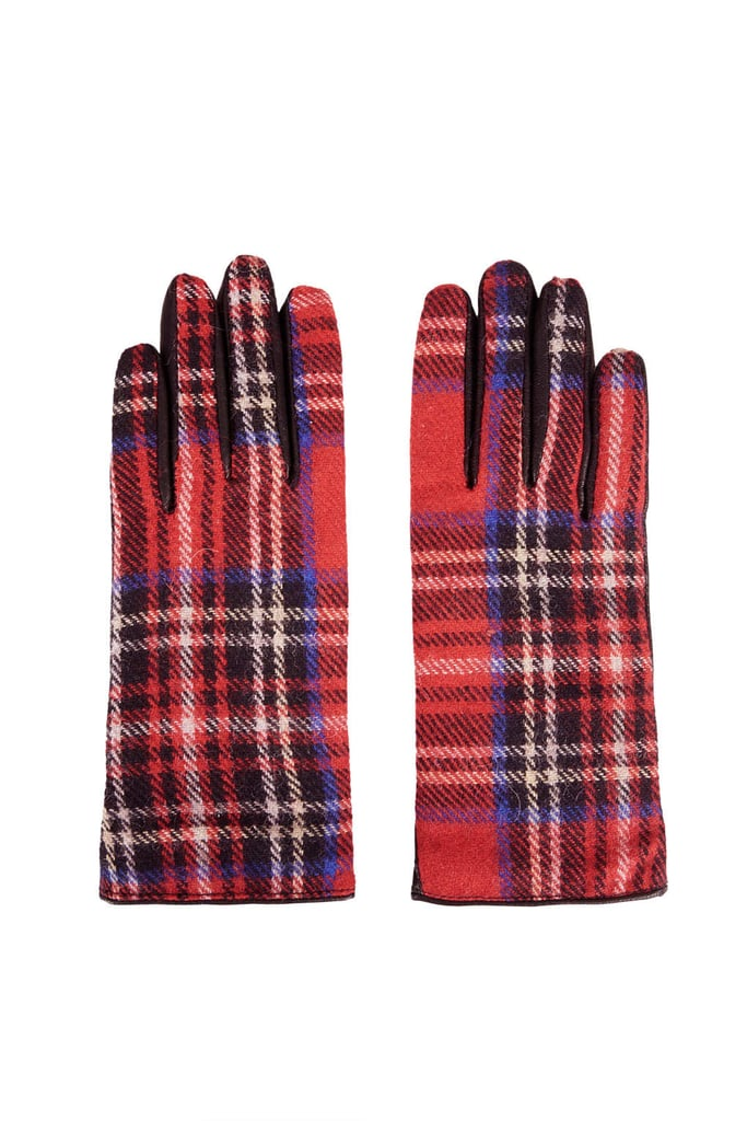 Topshop Plaid Gloves
