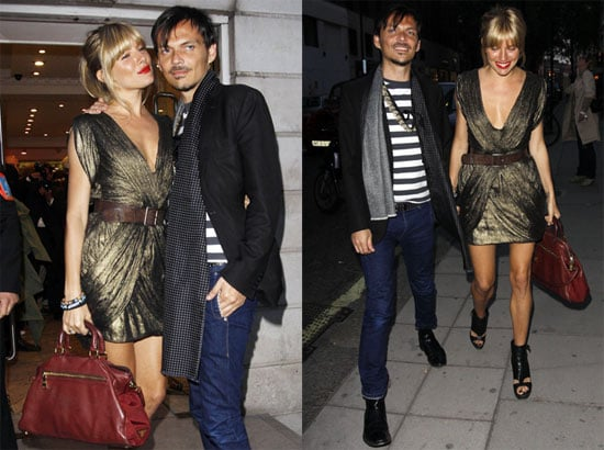 Pictures of Sienna Miller and Matthew Williamson in London
