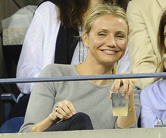Slide Picture of Cameron Diaz at US Open
