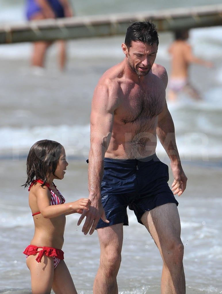 Hugh Jackman with his daughter.