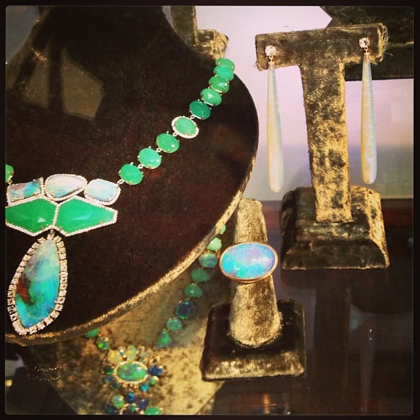 Great green jewelry from Irene Neuwirth.