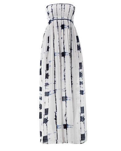 Cool Change Bamboo-print bandeau maxi dress