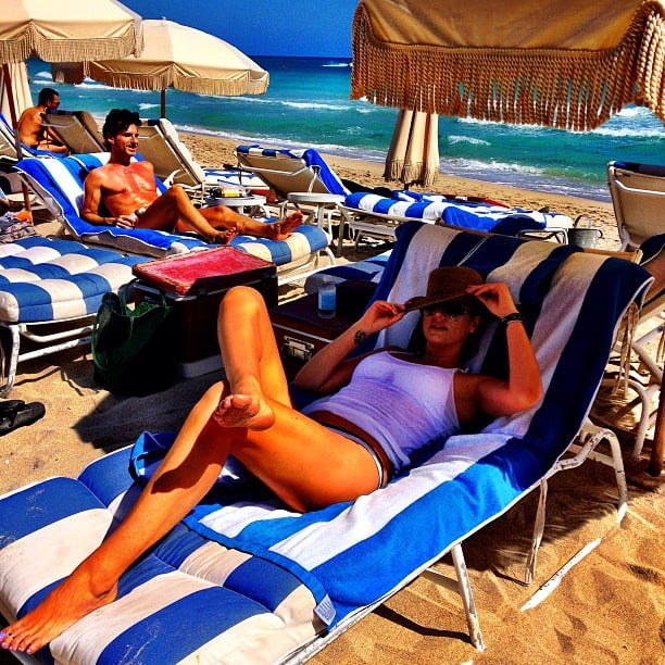 Daisy Fuentes did a little sunbathing on vacation. Source: Instagram user daisyfuentes