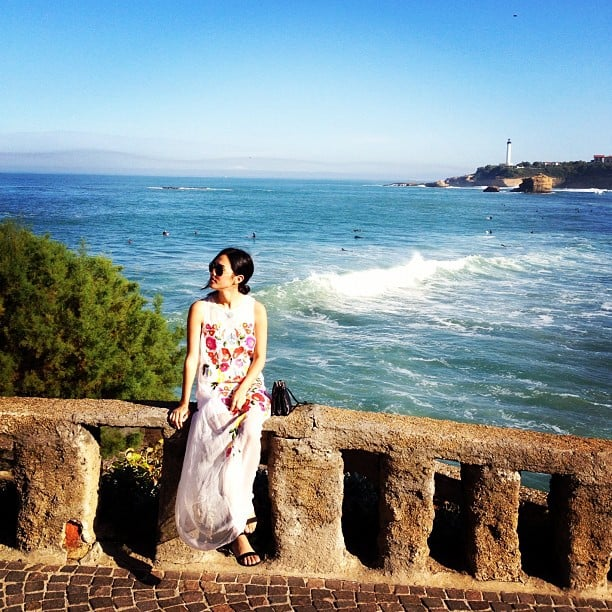 Nicole Warne took in the sights of Biarritz in France — wearing gorgeous Alice McCall. Source: Instagram user garypeppergirl