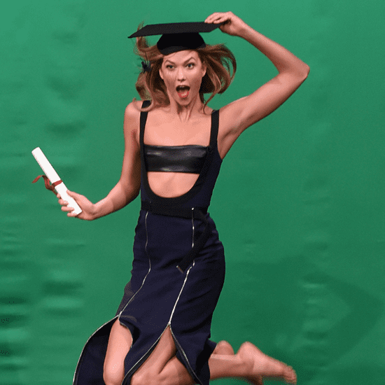 Karlie Kloss David Koma Dress on Jimmy Fallon 2016