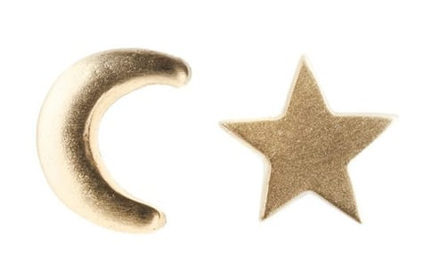 There's something slightly rebellious about mismatched earrings, but these Social Anarchy Moon & Star 14K yellow gold earrings ($220), you can take on this styling quirk with a sweet celestial twist.