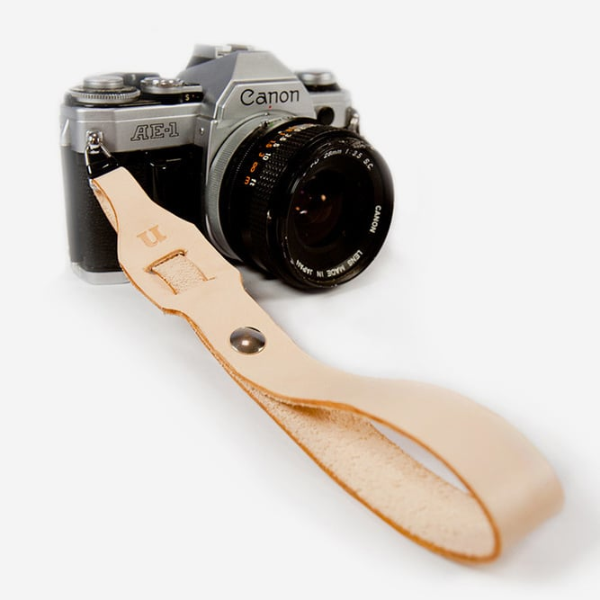 Made from leather, this camera wrist strap ($80) is so fabulous, you'll want to buy one for yourself, too.