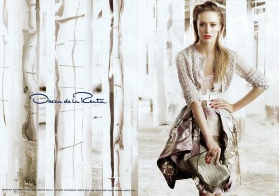 Oscar De La Renta 2009 Spring Ad Campaign Featuring Raquel Zimmermann