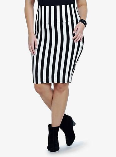 Torrid Vertical Striped Fold Over Skirt