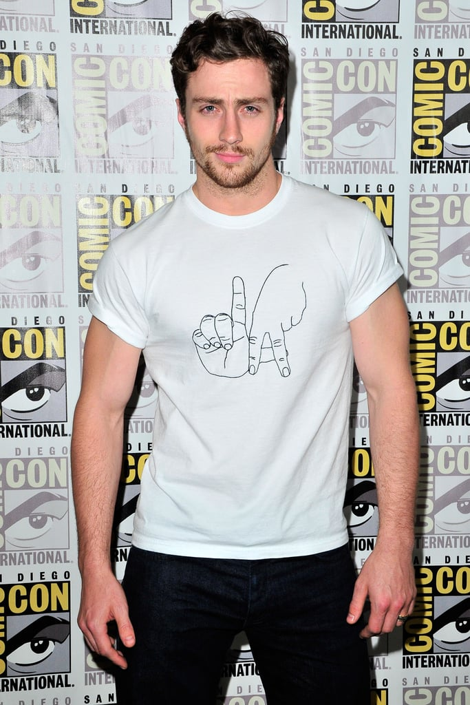 Aaron Taylor-Johnson's sleeves thought the best escape route was back the way they came.