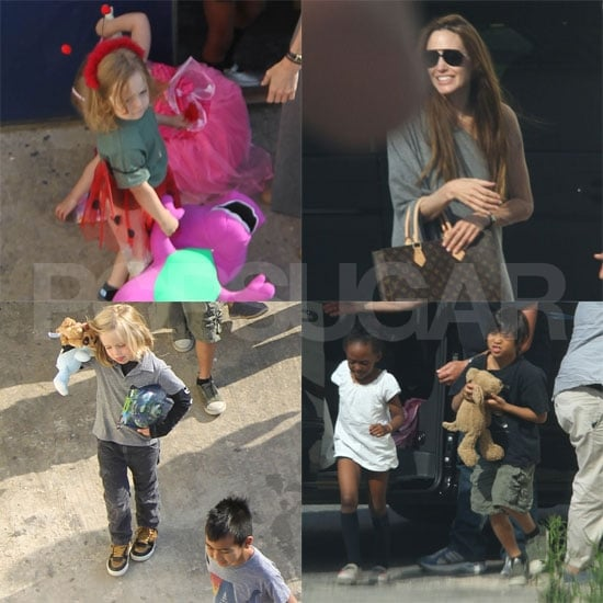 Angelina Jolie Photos at a Play Place in Malta With Her Kids!