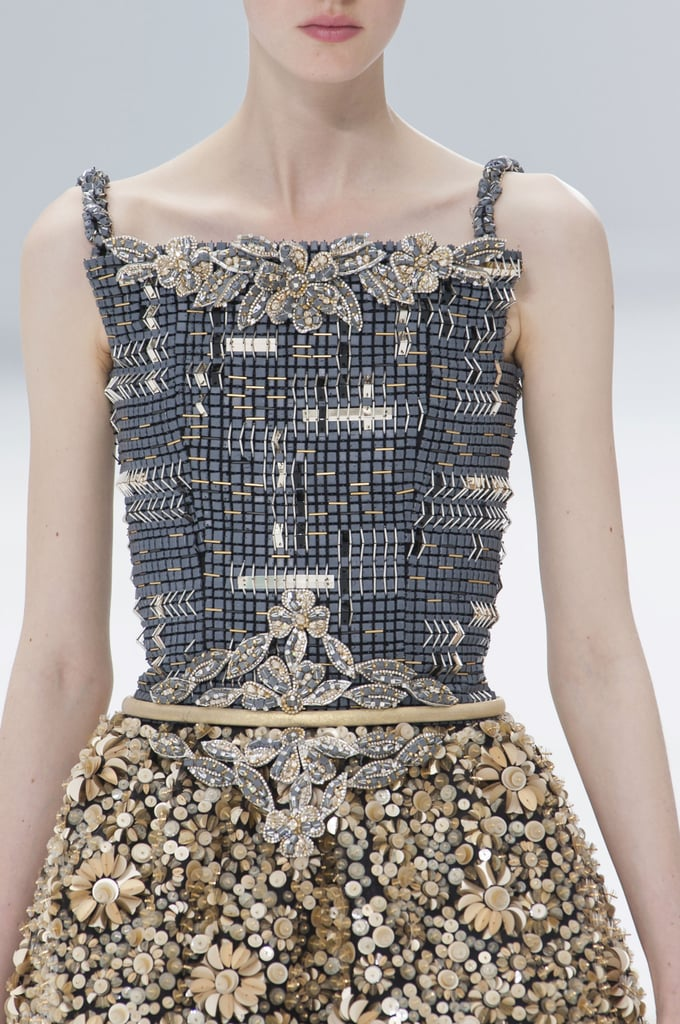 close up pictures dress details haute couture fashion week