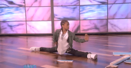 Jaden Smith Does Karate Kid Moves For Ellen