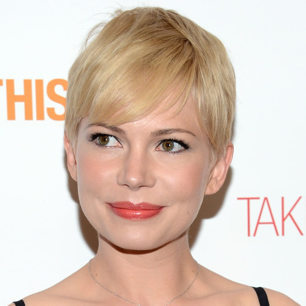 We know she's been rocking her pixie cut for quite some time now, but Michell Williams had perfect tone in her sandy blonde hair at the premiere of Take This Waltz in New York this week. If you colour your hair blonde, remember to use the right toning shampoo for your shade. Cool blonde like Michelle? Try Matrix Total Results, So Silver Shampoo (approx $19) one to two times a week.