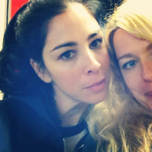 Amanda de Cadenet was excited to see Sarah Silverman on her flight to Austin, TX. Source: Instagram user amandadecadenet