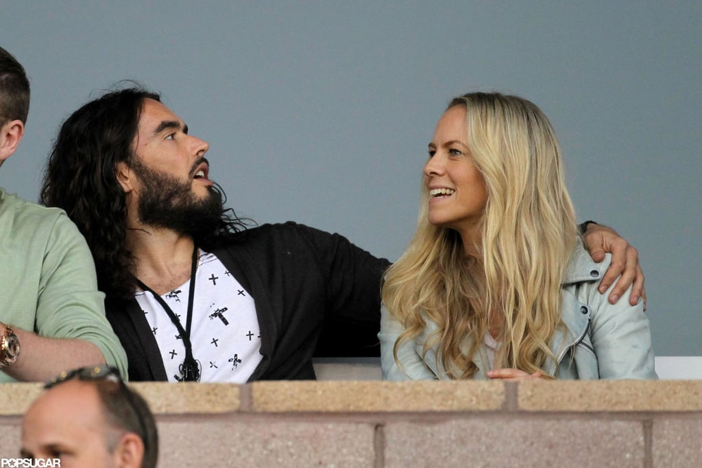 Russell Brand stepped out to watch soccer in LA.