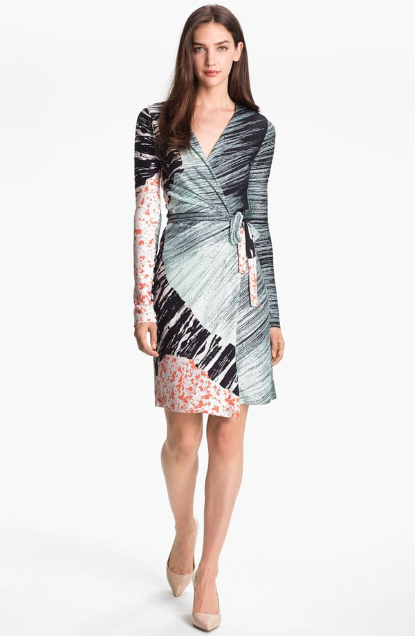 DVF's perpetually flattering wrap dress ($375) will make a nice addition to a still-growing work wardrobe.