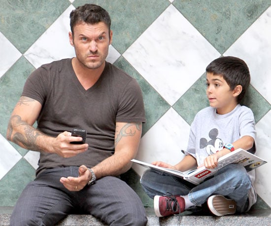 Slide Picture of Brian Austin Green and Kassius Green Running Errands in LA