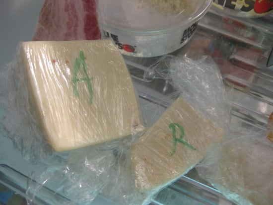 Simple Tip: Label Plastic Wrap With Cheese's First Initial