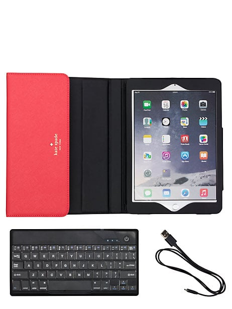 This chic Kate Spade 'cedar street' iPad air ostrich keyboard case ($140) will ensure you're always prepared to work while also looking fashion forward.