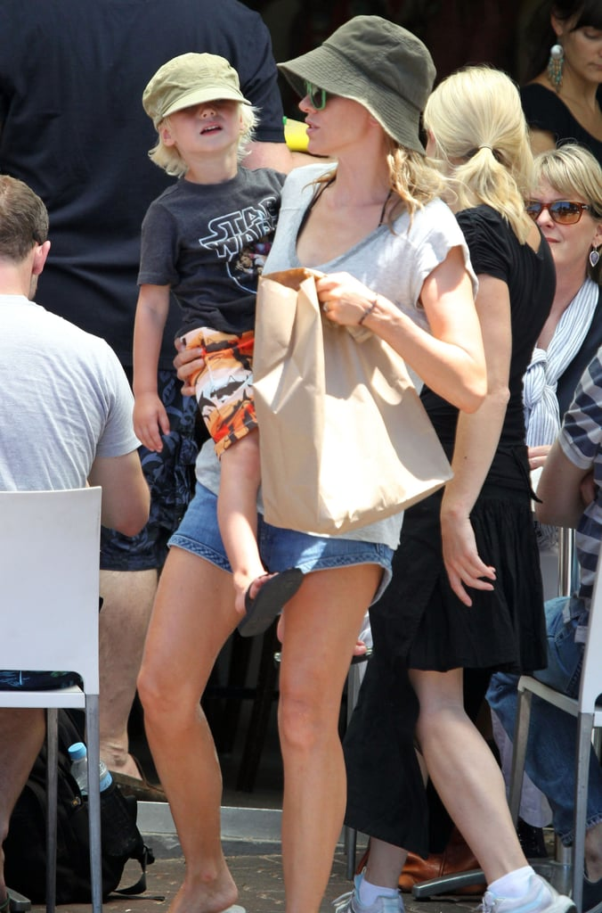 Naomi Watts Breaks Out Her Bikini For a Beach Day With Shirtless Liev and Her Boys