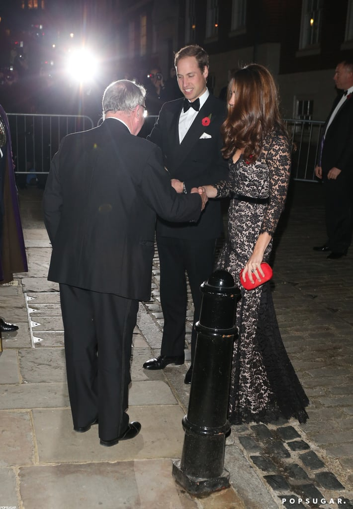 Prince William and Kate arrived at a dinner in celebration of the 600th anniversary of St. Andrews.
