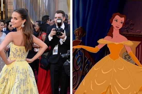 """Alicia Vikander Looks Like Belle From """"Beauty And The Beast"""" At The Oscars"""