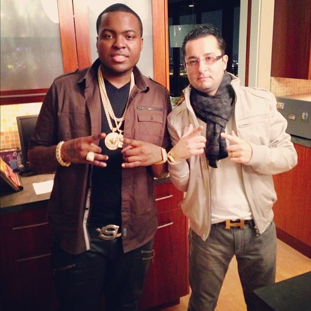 Sean Kingston picked up some new bling prior to the AMAs. Source: Instagram user badmonkingston