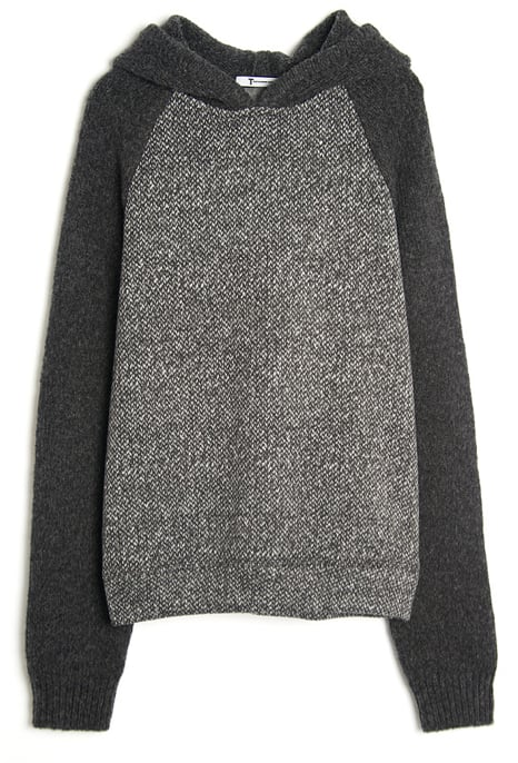 Or hang out in this comfy T by Alexander Wang two-tone pullover tweed sweatshirt ($203, originally $290). We would wear it with slouchy boyfriend denim for a boyish feel.