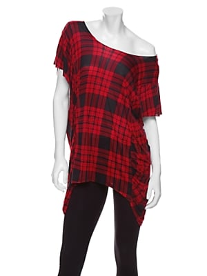Draped Plaid Tee — Torn by Ronny Kobo — IntermixOnline.com ($90)