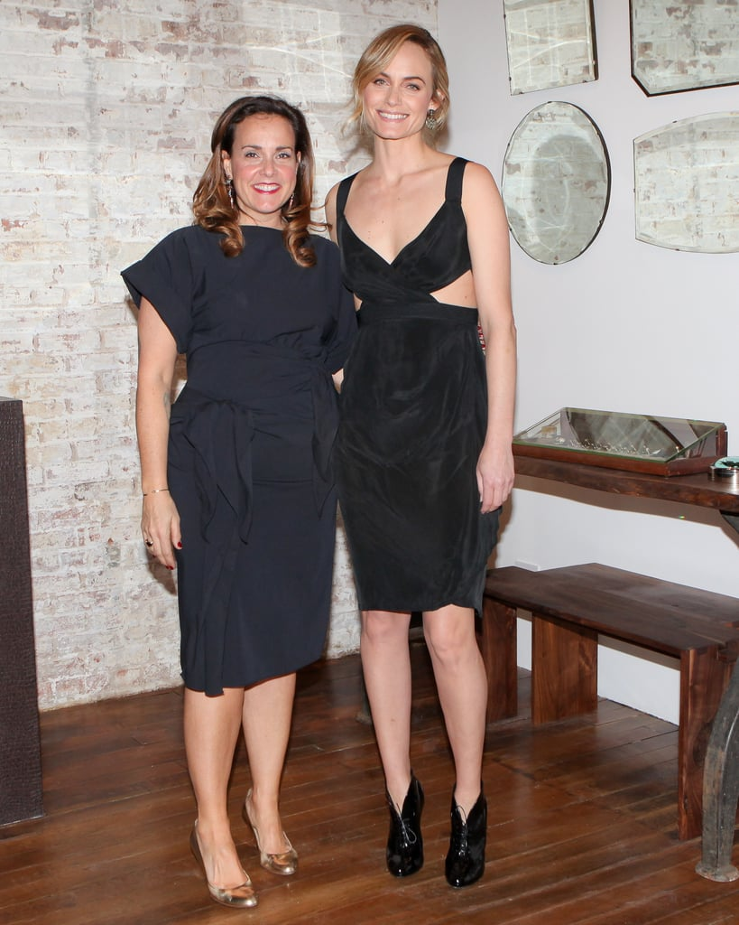 Melissa Joy Manning and Amber Valletta at the MJM New York store opening.
