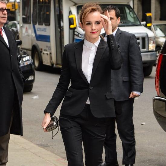Emma Watson Saint Laurent Pantsuit Noah   Video